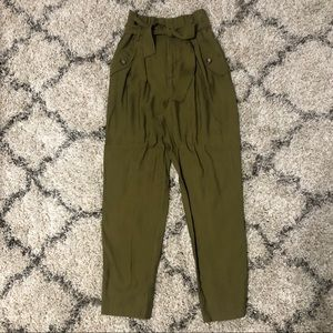 H&M Pants with Tie Belt